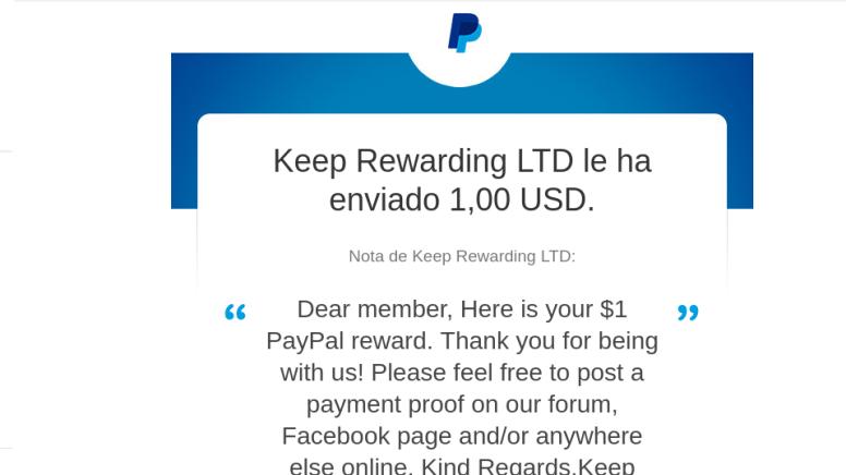 Resultado de imagen de Keep Rewarding pago png